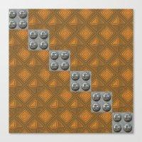 techno Canvas Prints featuring Techno by Karl-Heinz Lüpke