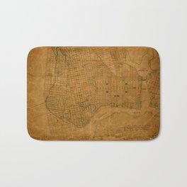 Map Of Oakland 1868 Bath Mat