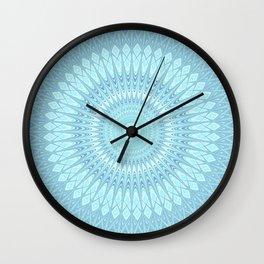 Ice Star Mandala Wall Clock
