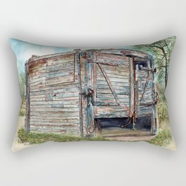 Farm Pigsty with a Difference Rectangular Pillow