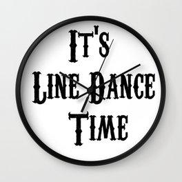 Funny Line Dancing Wall Clock