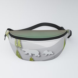Afternoon Polar Bears Fanny Pack