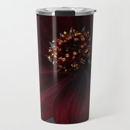 Chocolate Cosmos Flower Travel Mug