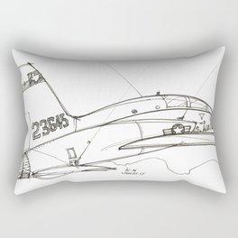 Museum Airplane Rectangular Pillow