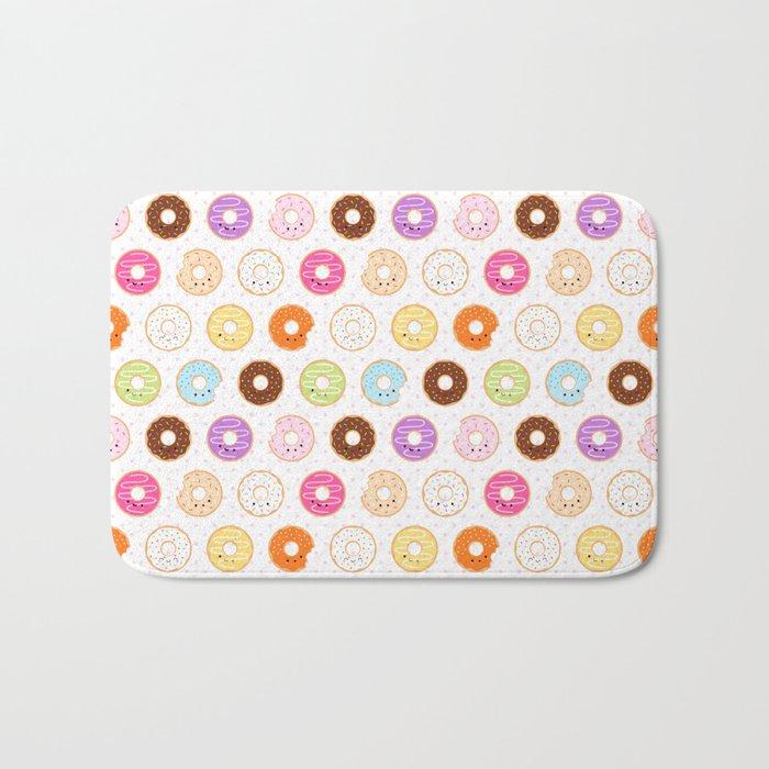 Happy Cute Donuts Pattern Bath Mat