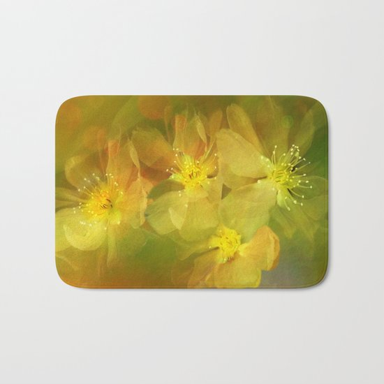 Early Morning Floral Abstract Bath Mat