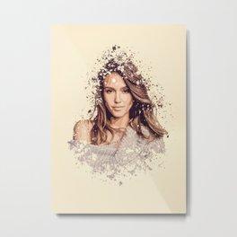 Jessica Alba splatter painting Metal Print