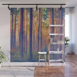 Forest - Filtering light Wall Mural