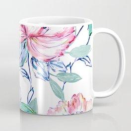Romantic watercolor flowers hand paint design Coffee Mug