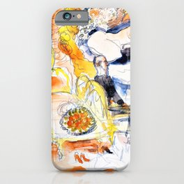 Charles Demuth -Count Muffat Discovers Nana with the Marquis de Chouard - Digital Remastered Edition iPhone Case