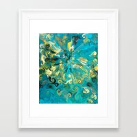 fireworks Framed Art Prints featuring Fireworks by Paul Kimble