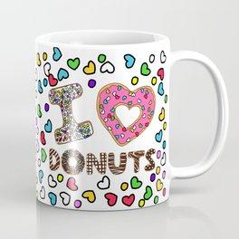 I LOVE DONUTS Coffee Mug