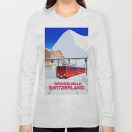 Grindelwald Ski Poster Long Sleeve T-shirt