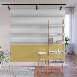 Minimal Gray Stripes - yellow Wall Mural