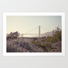 Glowy Golden Gate Art Print