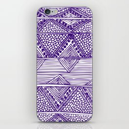 Abstract blue digitised hand drawing art iPhone Skin