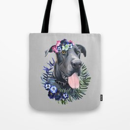 Flower power great Dane Tote Bag