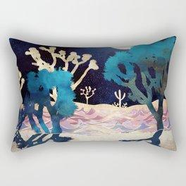 Desert Lake Moonlight Rectangular Pillow