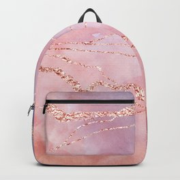 Blush and Purple Sky with Rose gold flashes Backpack
