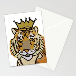 Tiger wearing Crown Stationery Cards