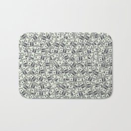Giant money background 100 dollar bills / 3D render of thousands of 100 dollar bills Bath Mat