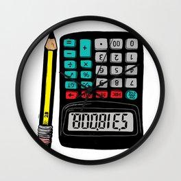 Rude Calculator Wall Clock
