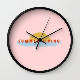 Summer Living Wall Clock