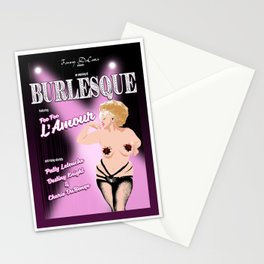 Burlesque with Foo Foo L'Amour #2 Stationery Cards