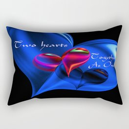 Two Hearts Together As One Rectangular Pillow