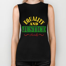 Equality and Justice tee design made specially for for justice lovers like you!  Biker Tank