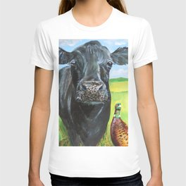 Cow and a pheasant  T-shirt
