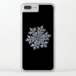 Real snowflake - Hyperion black Clear iPhone Case