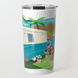 Relic 3 Vintage Travel Trailers, Caravans, Campers and Glamping Art Travel Mug