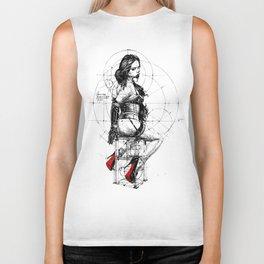 Love and Geometry. INK ART. Yury Fadeev Biker Tank
