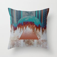 abstract floral forest 3 Throw Pillow