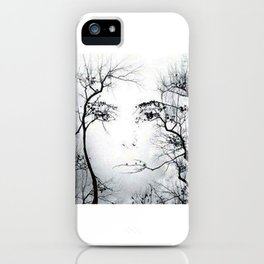 face in the trees iPhone Case