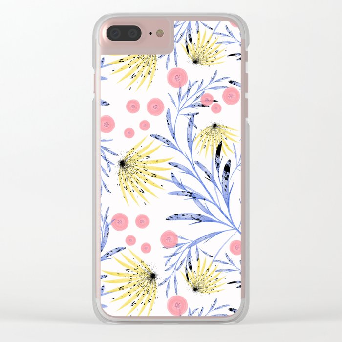 Abstract floral pattern. Clear iPhone Case