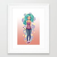 polka Framed Art Prints featuring Polka by Jessica May