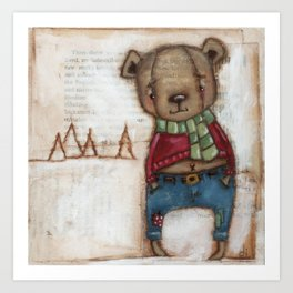 Cozy Bear Boy Art Print