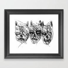 Dumb Lame Bat Heads Framed Art Print