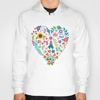agnes Hoodies featuring Floral Heart by Anna Deegan