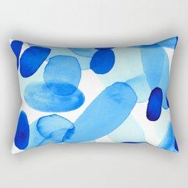 Beach Glass Blue Rectangular Pillow