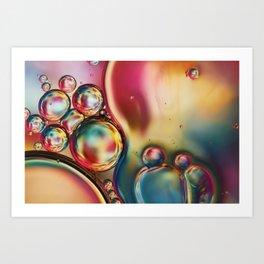 Bubblicious Rainbow Abstract Art Print