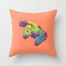 Pop Millennium Falcon On Coral Throw Pillow