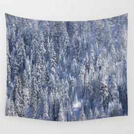 Snow Covered Forest Wall Tapestry