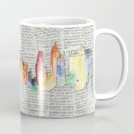 Watercolor skyline Coffee Mug