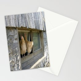Farm Animal Photography Pair of Chicken Best Friends Buff Orpingtons Stationery Cards