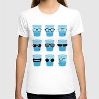 glasses T-shirts featuring Glasses by Zach Terrell
