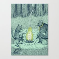 'Campfire' (Colour) Canvas Print