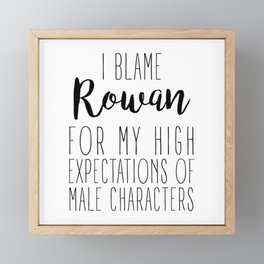 High Expectations - Rowan Framed Mini Art Print